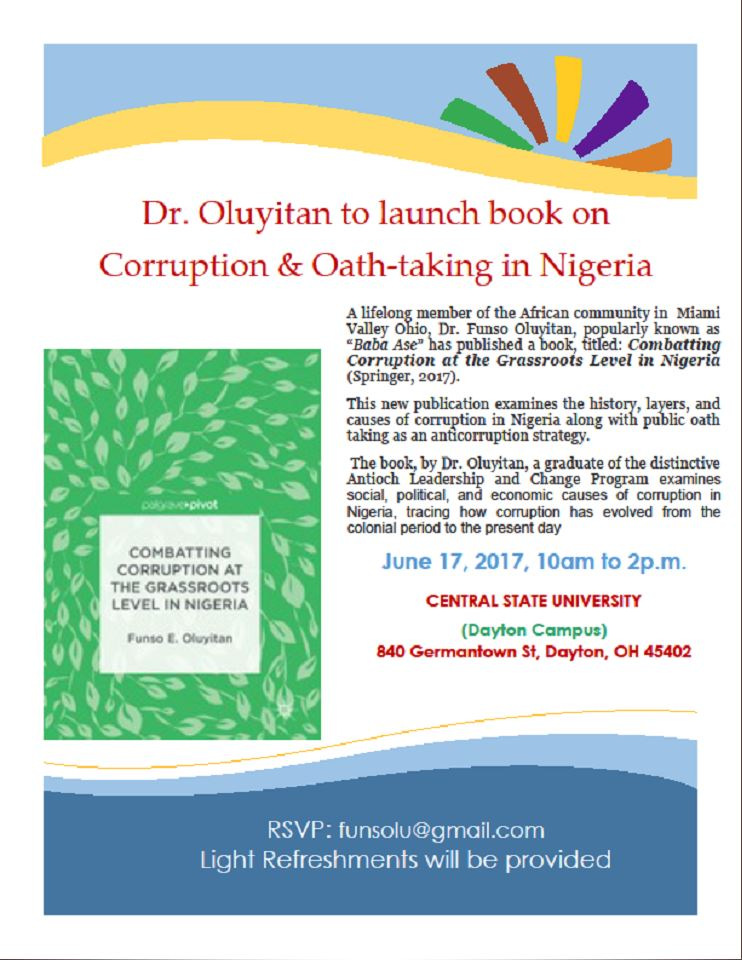 Combatting Corruption at the Grassroots Level in Nigeria By Prof, Funso Oluyitan