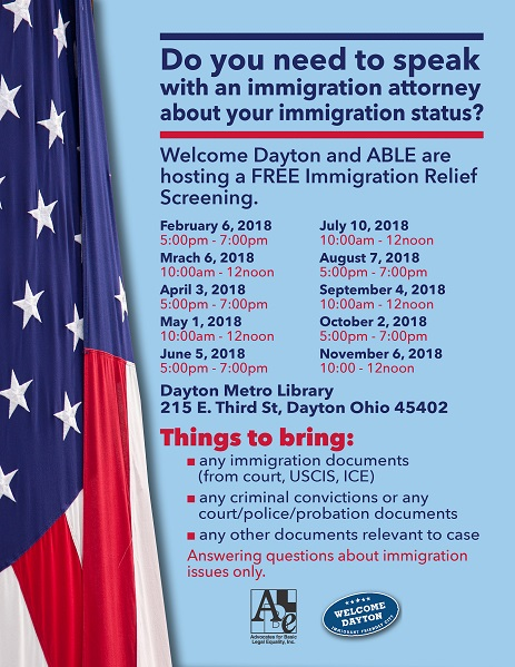 FREE IMMIGRATION RELIEF SCREENING IN DAYTON,OH